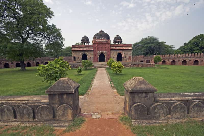 Isa Khan's Tomb is among the oldest sunken garden style tombs