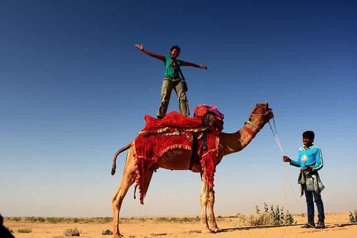 Neelima Camel Surfing in Rajasthan