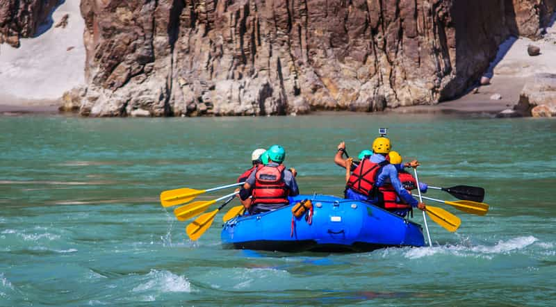 Rishikesh, you can enjoy a variety of adventure sports, including kayaking