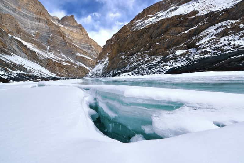 Snow-capped Ladakh for Skiing