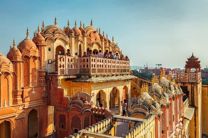 The Hawa Mahal in Jaipur