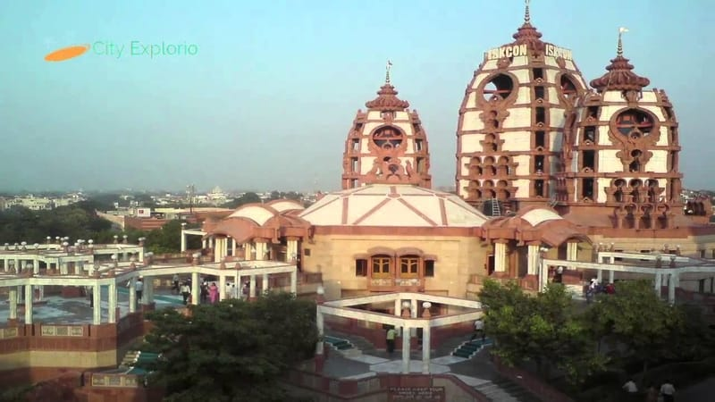 The ISKCON Temple at Delhi
