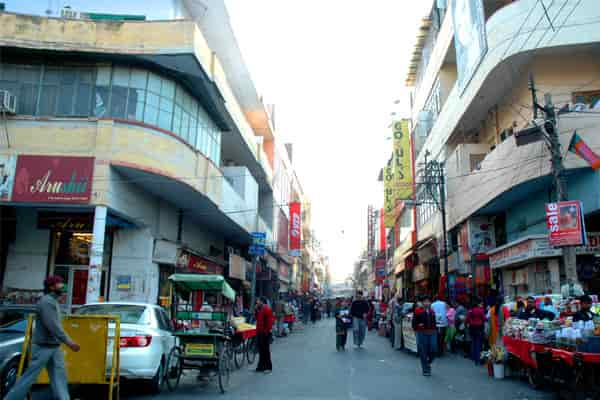The Kamla Nagar Market lane