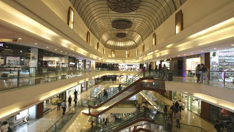 The Palladium mall offers luxury brands