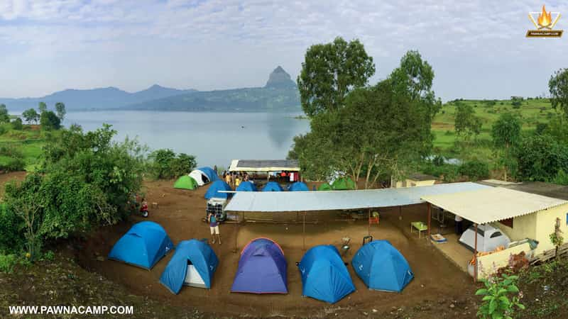 The Pawna Lake campsite