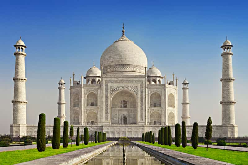 The Taj Mahal in Agra, Uttar Pradesh