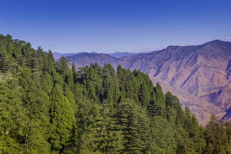 The beautiful Mussoorie landscape