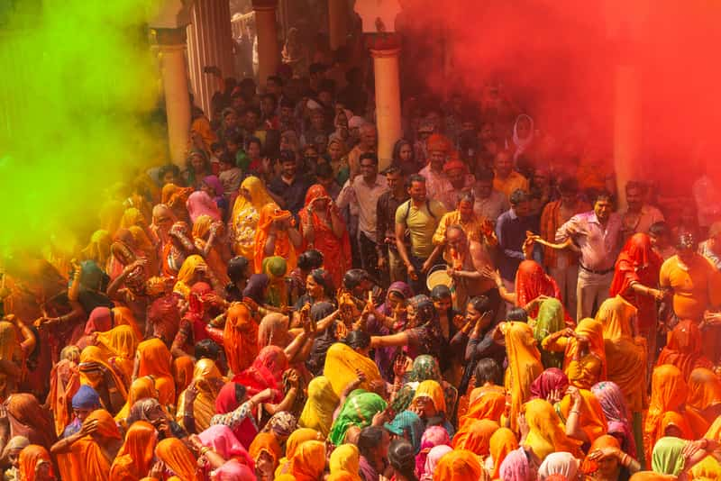 The best time to visit Mathura is during the Holi festival