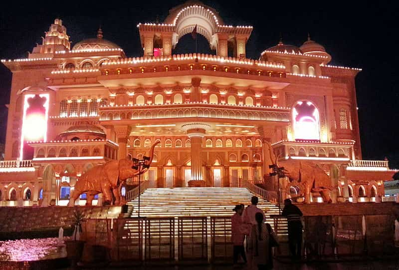 The entrance to one of the theatres at Kingdom of Dreams.