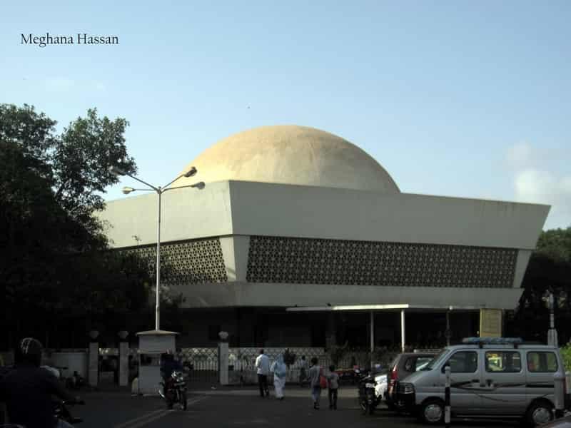 The entrance to the planetarium