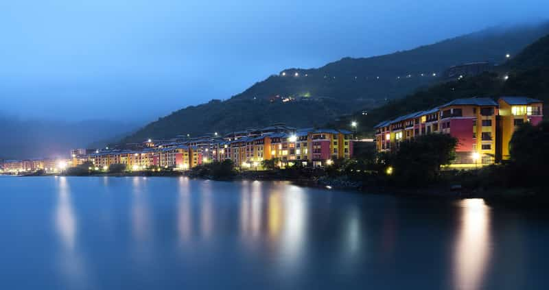 The lakeside view of Lavasa