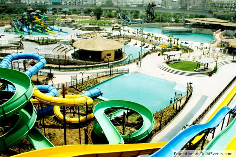 The many water slides at Appu Ghar