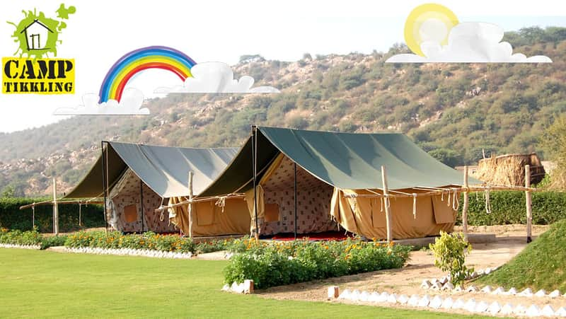 The tents at the camp