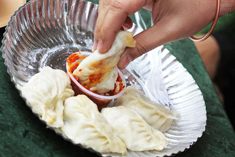 This eatery serves up some deliciously spicy momos