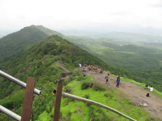Trekkers at the summit of the Karnala Fort in the sanctuary