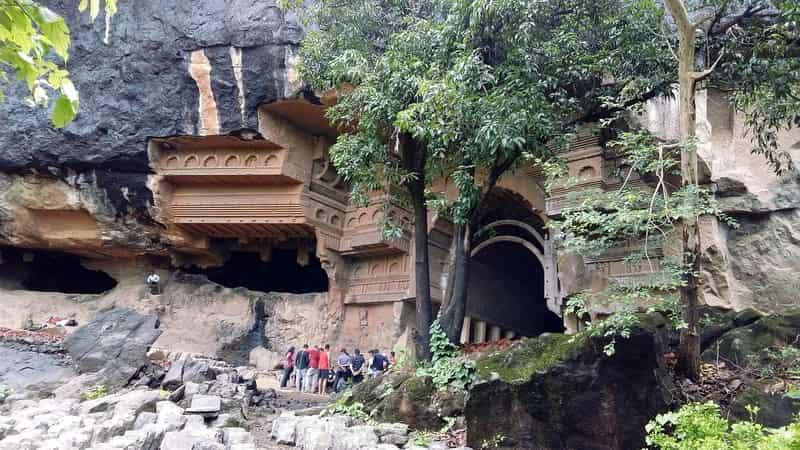 Trekkers gathered outside the Kondane Cave to begin the trek