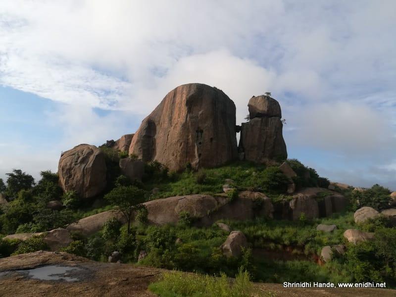 The rocky terrain of Ramanagara