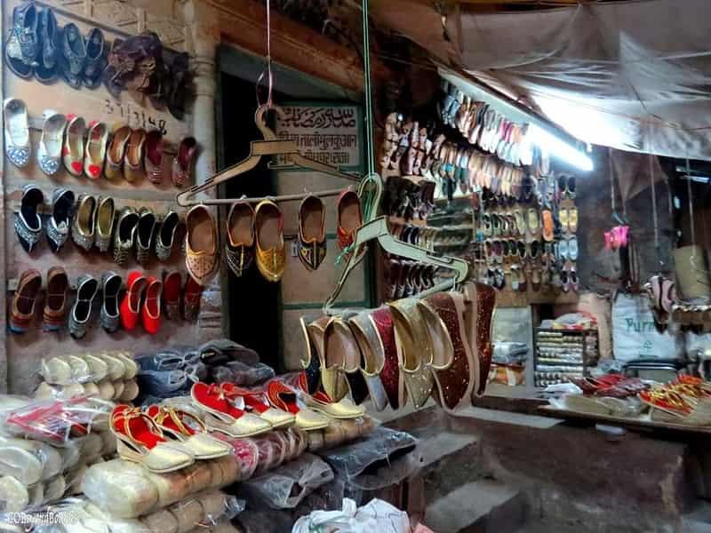 Wholesale shoe market at Sardaar Bazaar