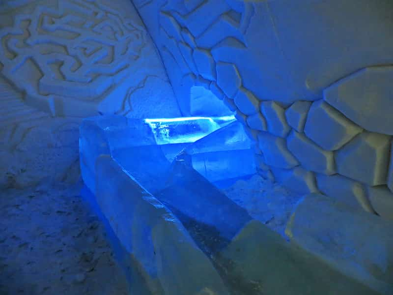 A Slide Carved Out Of Ice