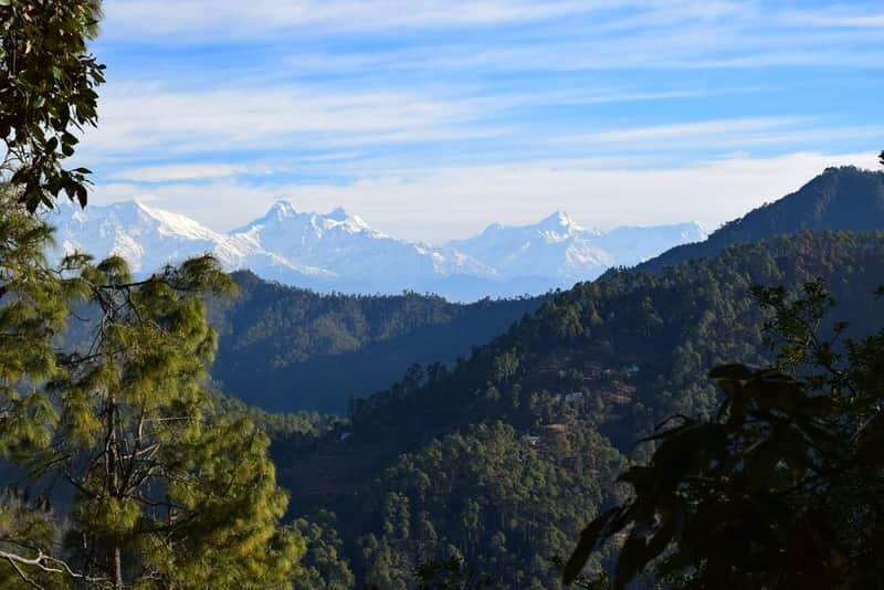 A View of the Himalayas from Binsar