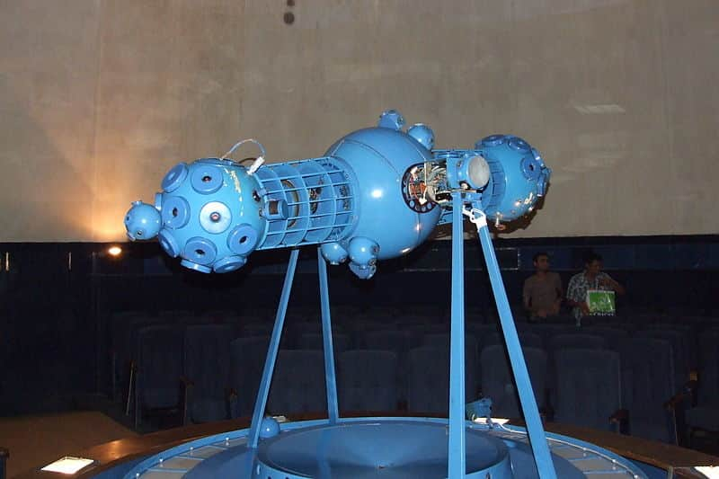An exhibit at the Planetarium