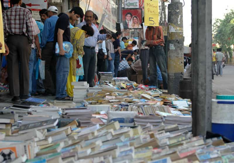 Bargain hunters looking for their books