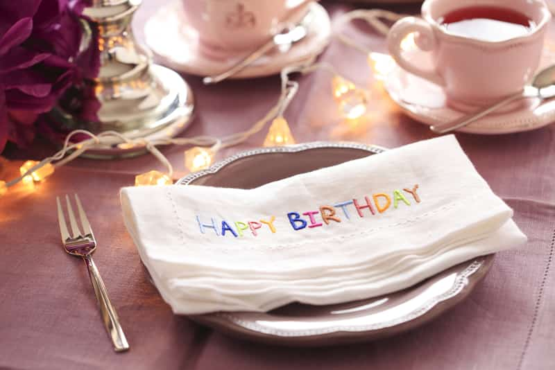 Celebrate your birthday with a nice meal, family and friends