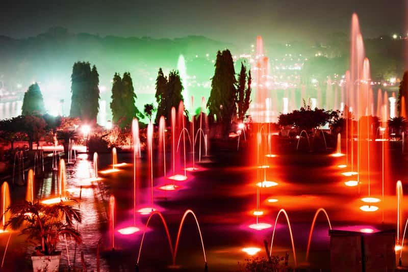 Dancing fountains at Brindavan Gardens