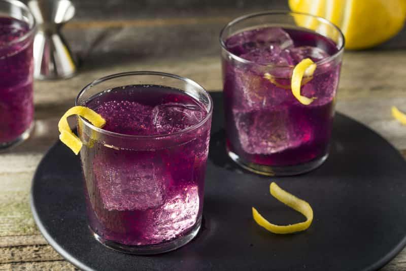 Drinks served at Purple Haze