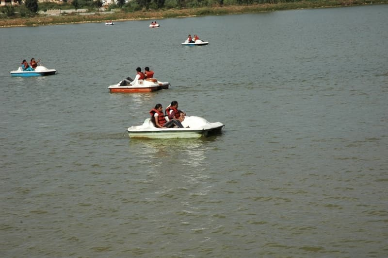 Enjoy a romantic boat ride at Lumbini Garden
