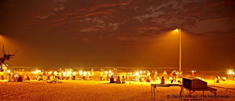 Juhu Beach At Night