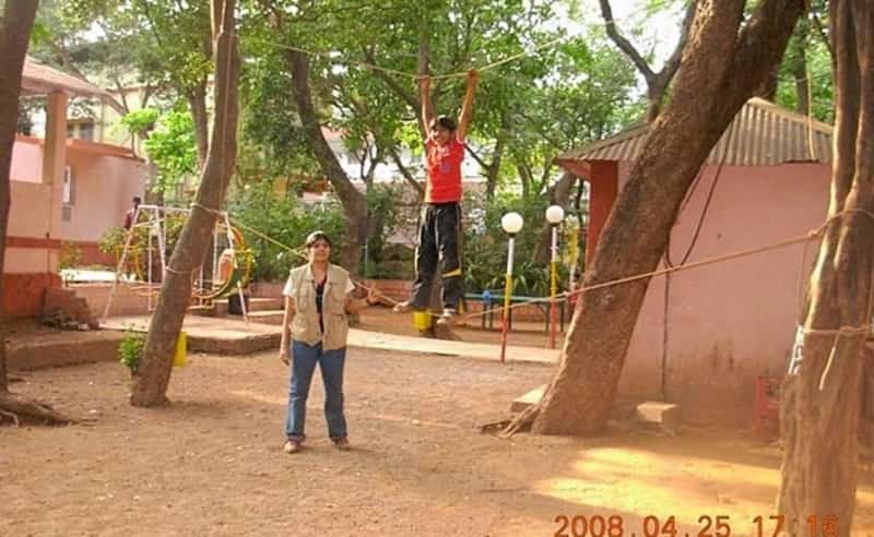 Kids engaged in the various activities at Matheran camp