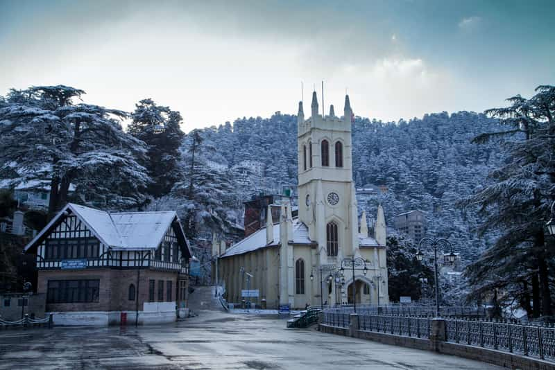 Shimla on a snowy day