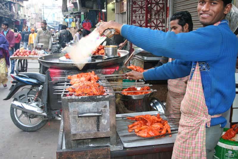 Street food at Jama Masjid