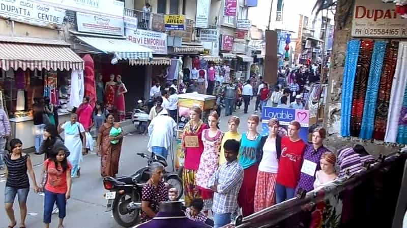 The Commercial Street in Bangalore is great for shopping.
