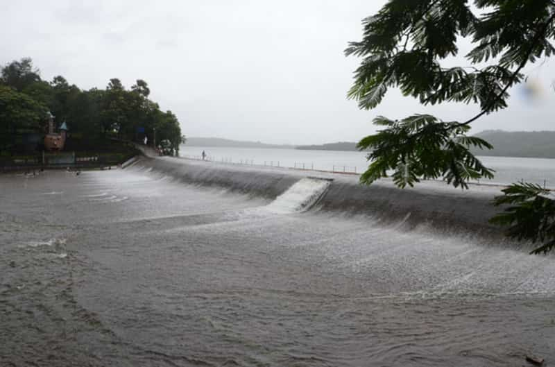 The Vihar lake overflowing during the monsoons