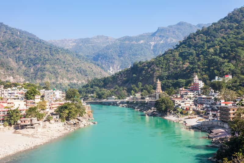 The beautiful landscape of Rishikesh
