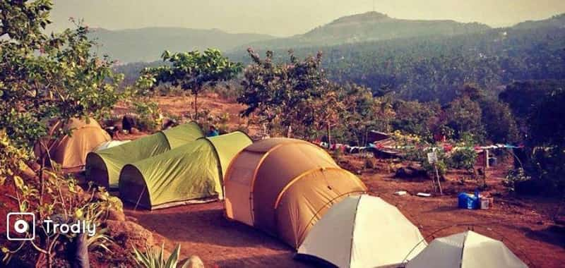 The campsite in Murud-Janjira.