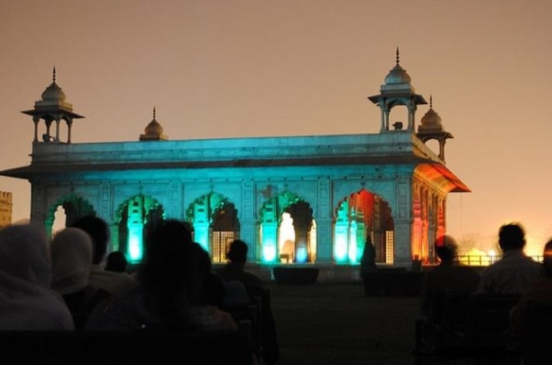 The enthralling light and sound show at the Red Fort