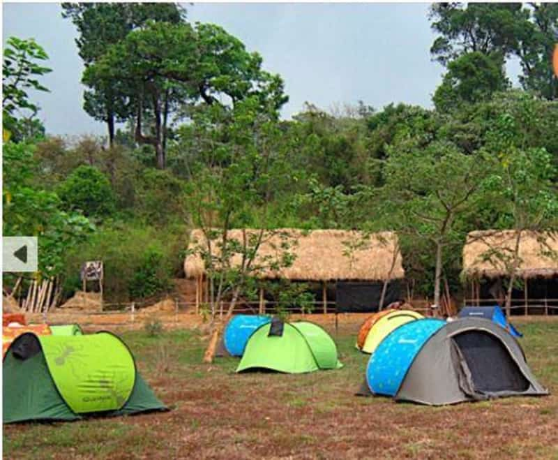 The tents at the Gonikoppal Camp