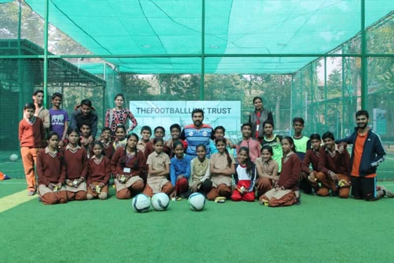 Underprivileged children given a scholarship to learn football