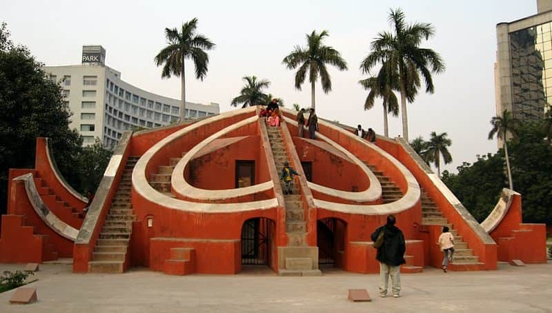 Visitors at the Jantar Mantar