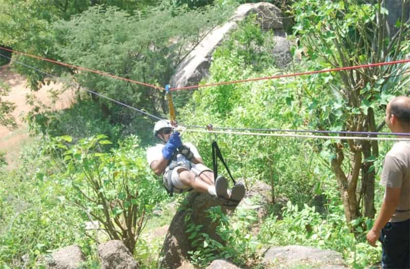 Ziplining at Ramanagara