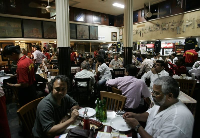 An iconic café in Mumbai