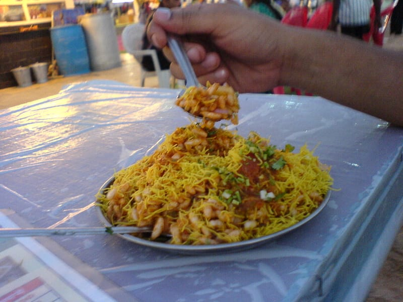 Juhu Beach is famous for its chaats and street food