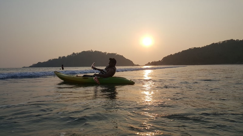 Palolem is one of the best places for kayaking in Goa