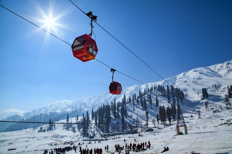 Gondola Cable Car over Gulmarg