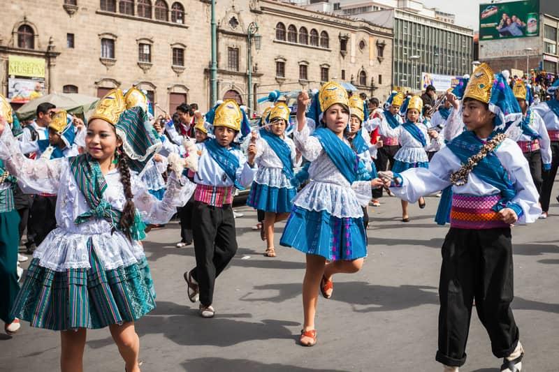 A cultural festival in Bolivia