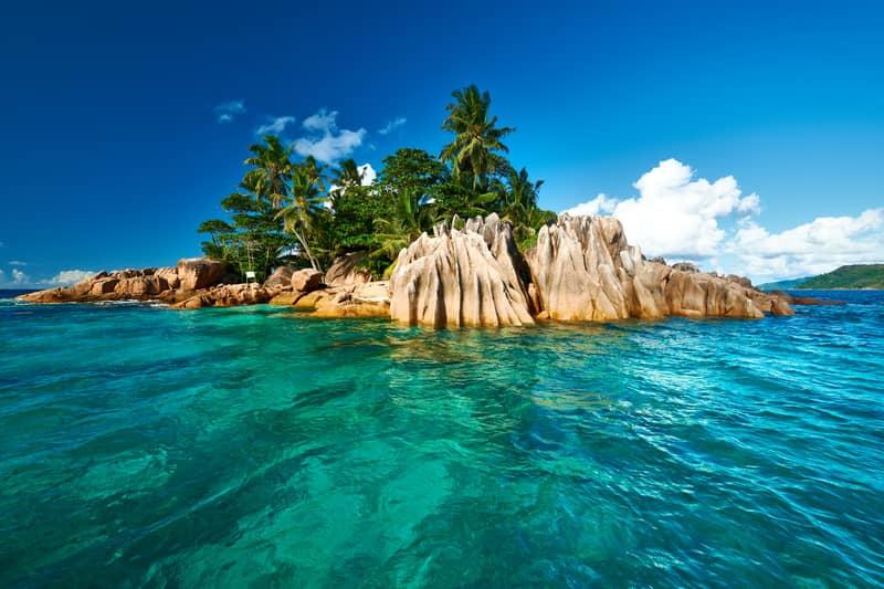 An island in Seychelles