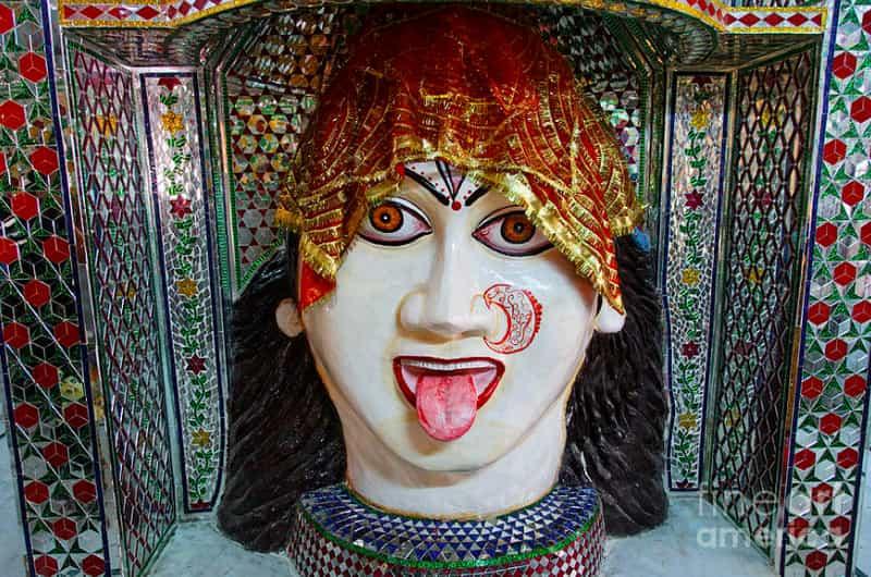 Deity sculpture inside the temple